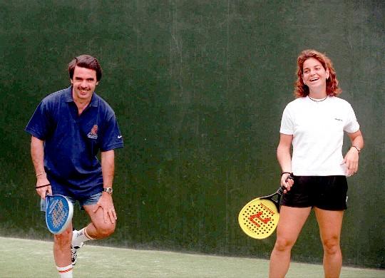 José María Aznar y Arantxa Sánchez Vicario