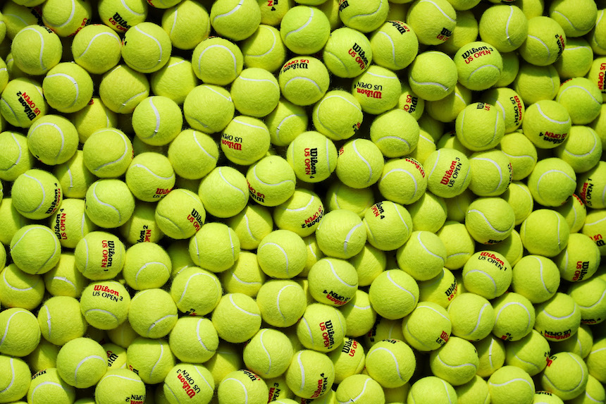 Mar de pelotas de tenis