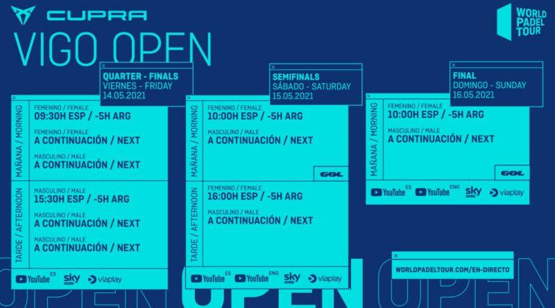 Horarios WPT Vigo Open 2021
