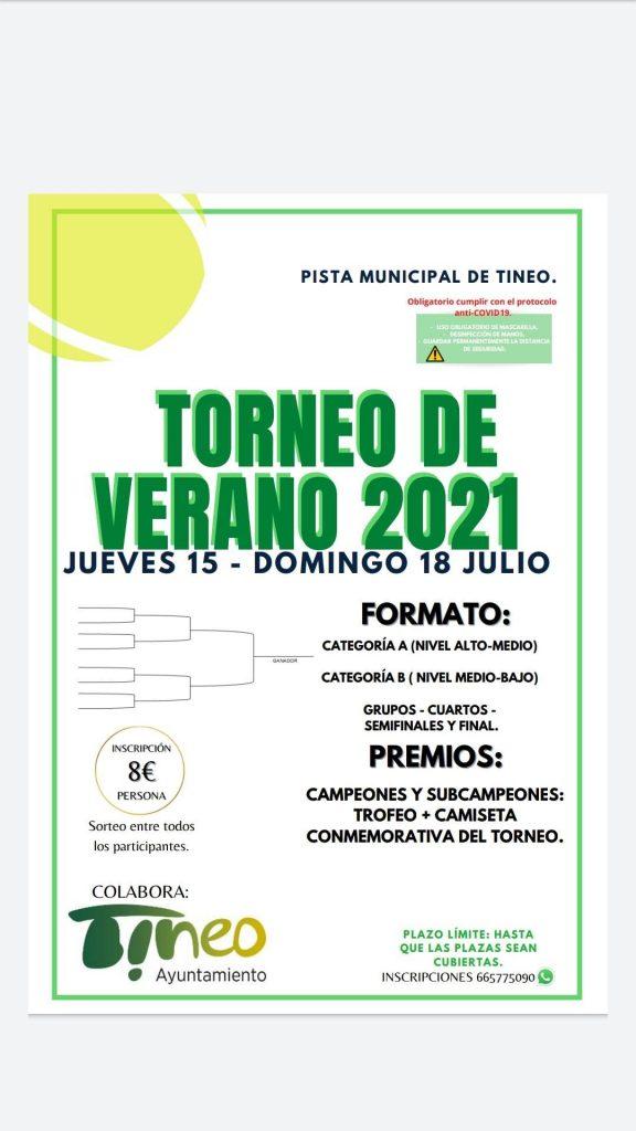 Torneo de pádel de verano  2021 en Tineo