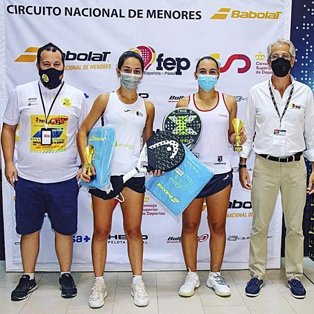 Carmen Goenaga y Lorena Rufo, campeonas de España junior 2021